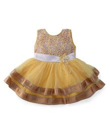Bluebell Sleeveless Frock - Golden