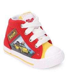 Chhota Bheem Casual Shoes With Lace Tie-Up - Red & Yellow