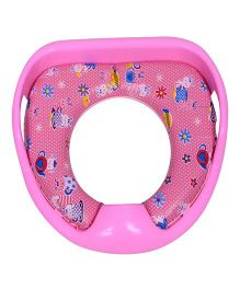 Dash By ARK Potty Training Cushioned Toilet Seat With Handle - Pink