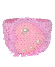 Mauve Collection Cute & Pretty Pearl Embellished Headband - Baby Pink