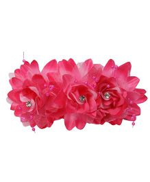 Mauve Collection Rose Comb Clip - Dark Pink