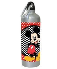 Mickey Mouse Water Bottle Black Red - 450 ml