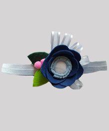 Reyas Accessories Sheer Rose Headband - Blue