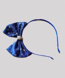 Reyas Accessories Big Bow Glitter Hairband - Royal Blue