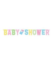 Wanna Party Baby Shower Banner - Multicolor