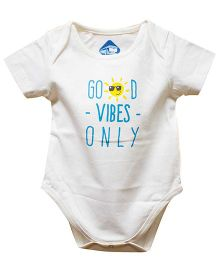 Blue Bus Store Good Vibes Only Print Onesie - White