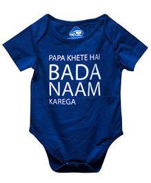 Blue Bus Store Papa Khete Hai Bada Naam Karega Print Onesie - Blue