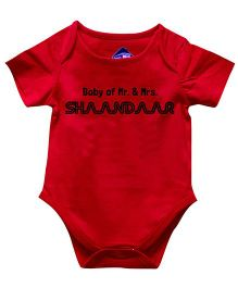 Blue Bus Store Shaandar Print Onesie - Red