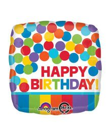 Bling It On Rainbow Birthday Balloon - Multi Color