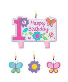 Bling It On 1st Birthday Candle Set - Multi Color