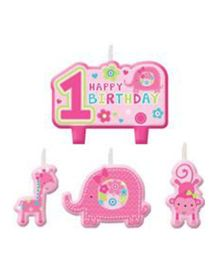 Bling It On Wild At One 1st Birthday Candle Set - Multi Color