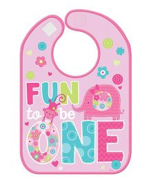 Bling It On Wild At One 1st Birthday Bib - Pink