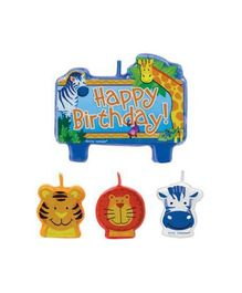 Bling It On Jungle Animals Birthday Candle Set - Multi Color