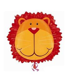 Bling it On Lion Head Balloon - Brown