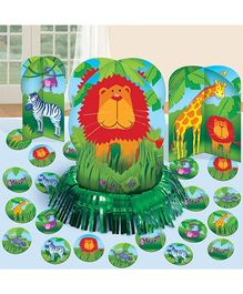 Bring It On Jungle Animals Table Decorating Kit - Multi Color