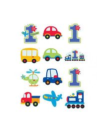 Bling it On All Aboard 1st Birthday Cutouts Pack of 12 - Multi color