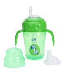 Mee Mee 2 in 1 Spout & Straw Sipper Cup Green - 210 ml