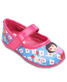 Dora Bellies With Velcro Closure - Blue Pink