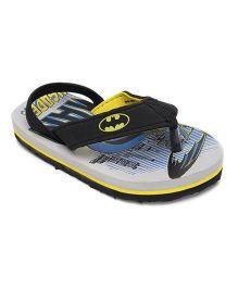Batman Flip Flops - Grey And Black