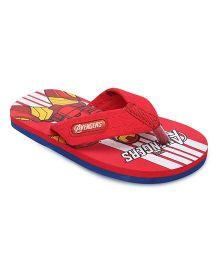 Avengers Flip Flops  - Red