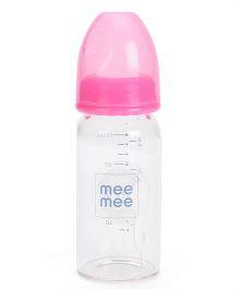 Mee Mee Premium Glass Feeding Bottle Pink - 125 ml