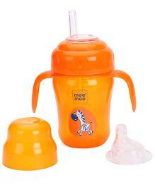Mee Mee 2 in 1 Spout & Straw Sipper Cup Orange - 210 ml