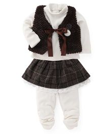 Little Kangaroos Multi-Piece Set - Brown Off White