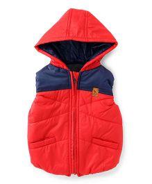 Little Kangaroos Sleeveless Hooded Jacket - Red
