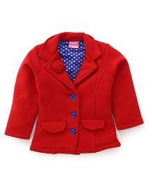 Play by Little Kangaroos Full Sleeves Jacket - Red