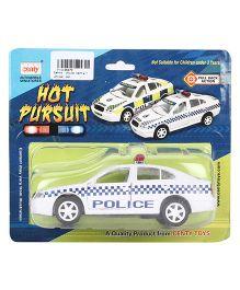 Centy Pull Back Hot Pursuit Car - White