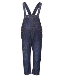 Tales & Stories Stylish Denim Dungaree - Dark Blue