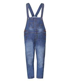 Tales & Stories Stylish Denim Dungaree - Blue