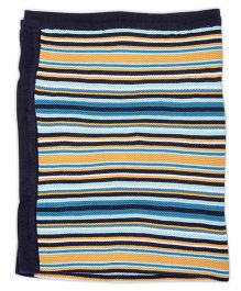 FS Mini Klub Flat Knit Striped Blanket - Blue