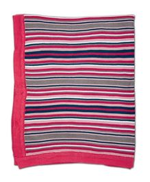 FS Mini Klub Flat Knit Striped Blanket - Pink