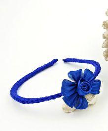 Magic Needles Handmade Flower Hairband - Dark Blue