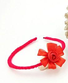 Magic Needles Handmade Flower Hairband - Red