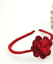 Magic Needles Handmade Satin Flower Hairband - Maroon