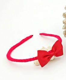 Magic Needles Handmade Bow Hairband - Red