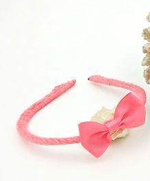 Magic Needles Handmade Bow Hairband - Peach