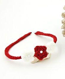 Magic Needles Handmade Small Flowers Hairband - Maroon