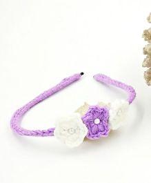 Magic Needles Handmade Small Flowers Hairband - Lavendar
