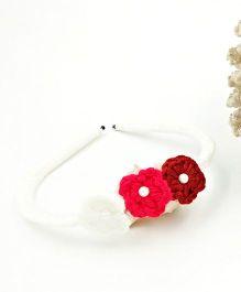 Magic Needles Handmade Small Flowers Hairband - White