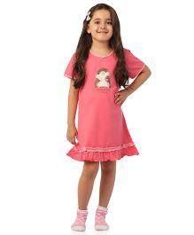 De-Nap Kisses & Hugs Night Dress - Fuchsia Pink