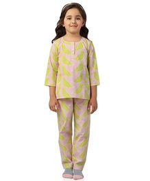 De-Nap Little Birds Top Pant Set - Pink