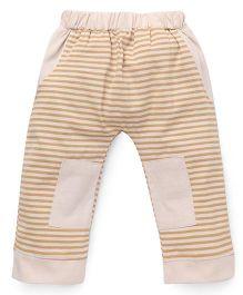 Mini Taurus Striped Track Pant - Beige