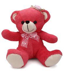 Funzoo Teddy Bear Soft Toy Dark Pink - 26 cm