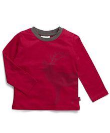 Coccoli Deer Print Full Sleeves T-Shirt - Red