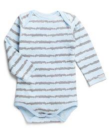 Coccoli Full Sleeves Stripe Print Onesie - Blue