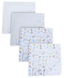 Owen Receving Blankets Pack Of 4 - White