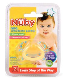 Nuby Geo Orthodontic Pacifier - Yellow